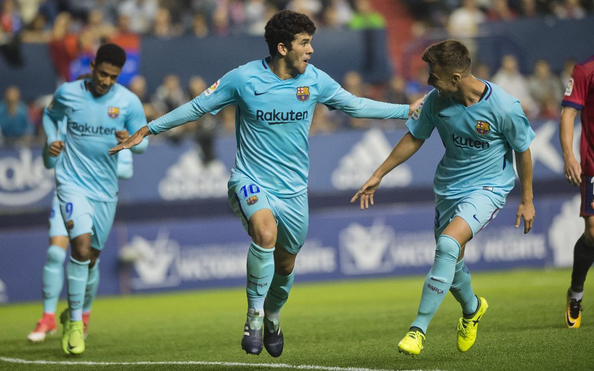 CA Osasuna - FC Barcelona B: Punto valioso en el campo del líder (2-2)