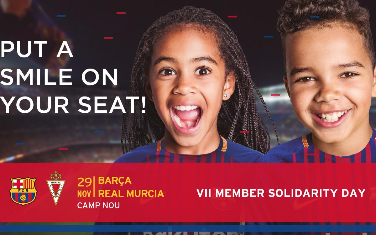 Member Solidarity Day to provide thousands in need with free tickets to Barça vs Murcia