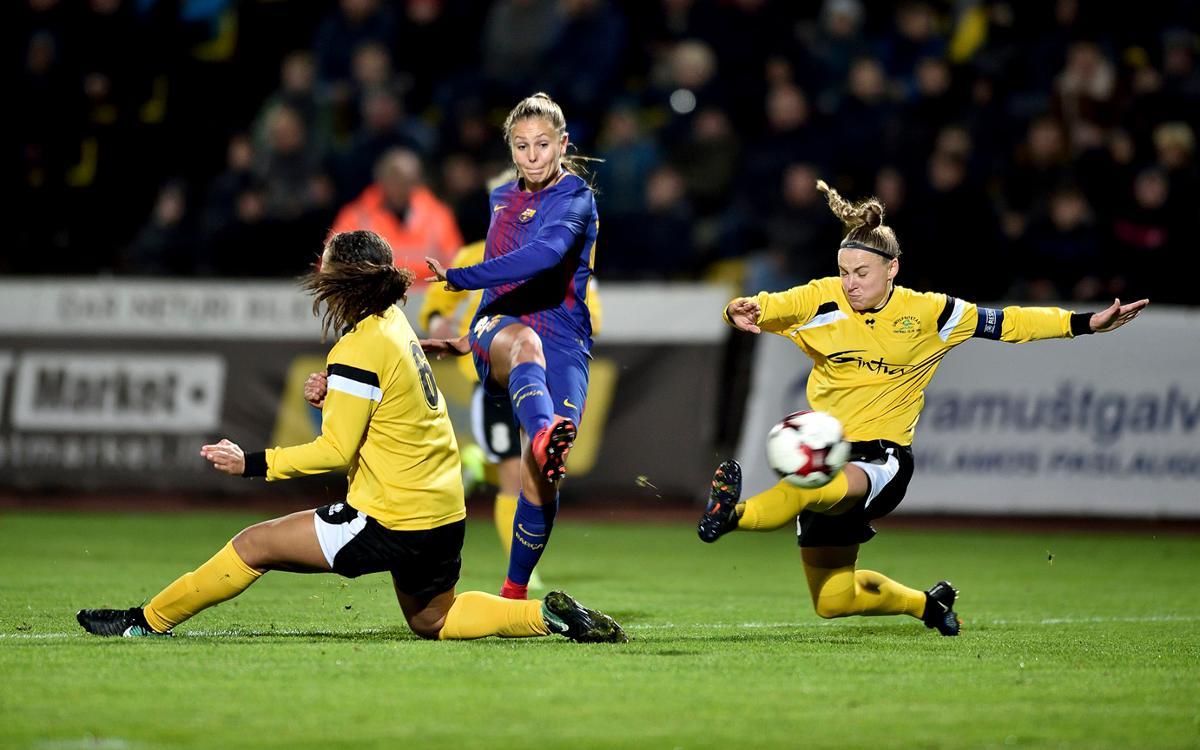 FK Gintra Universitetas – Barça Femení: Golejada històrica per continuar intractables (0-6)