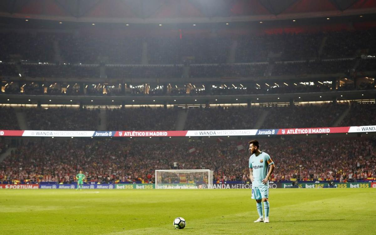 The other side of the first game at the Wanda Metropolitano