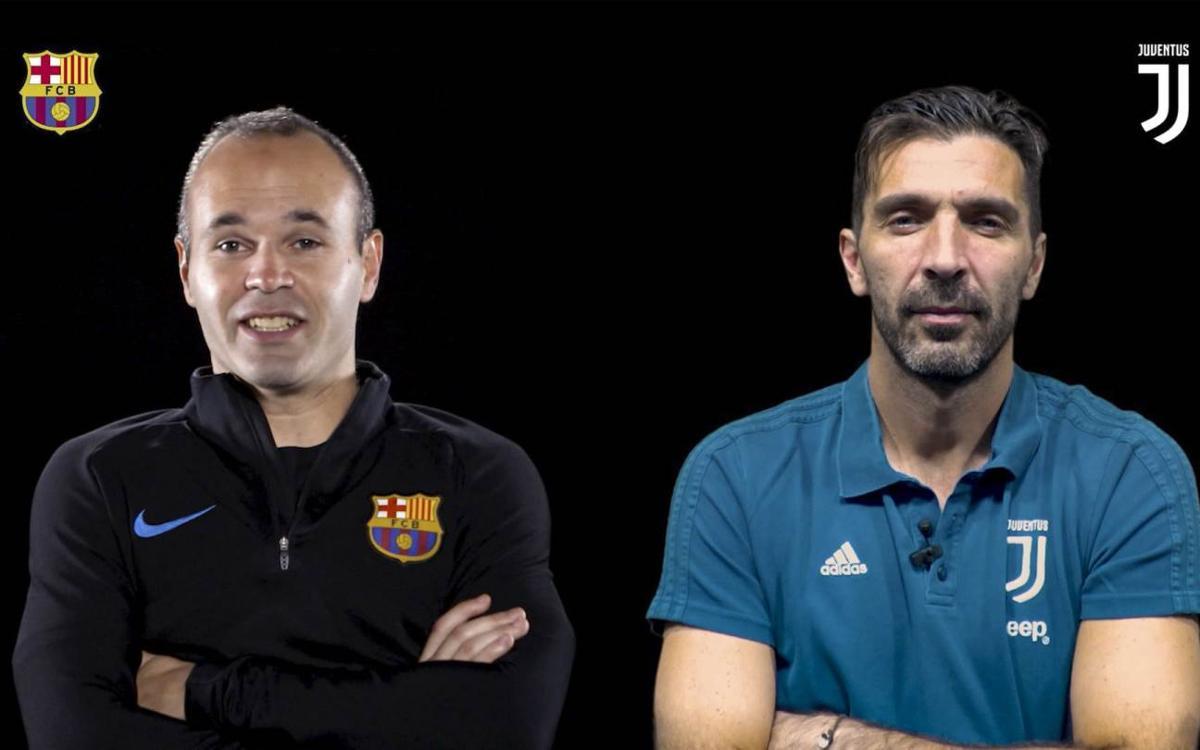 Iniesta and Buffon, face to face