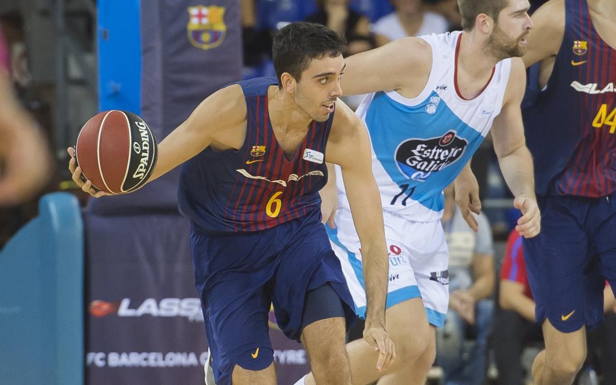 Marc Garcia, amb una luxació a l'espatlla esquerra