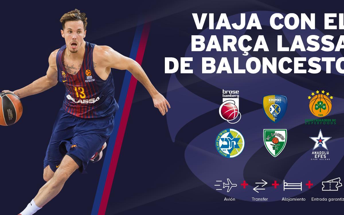 Acompañemos al Barça en sus desplazamientos por Europa