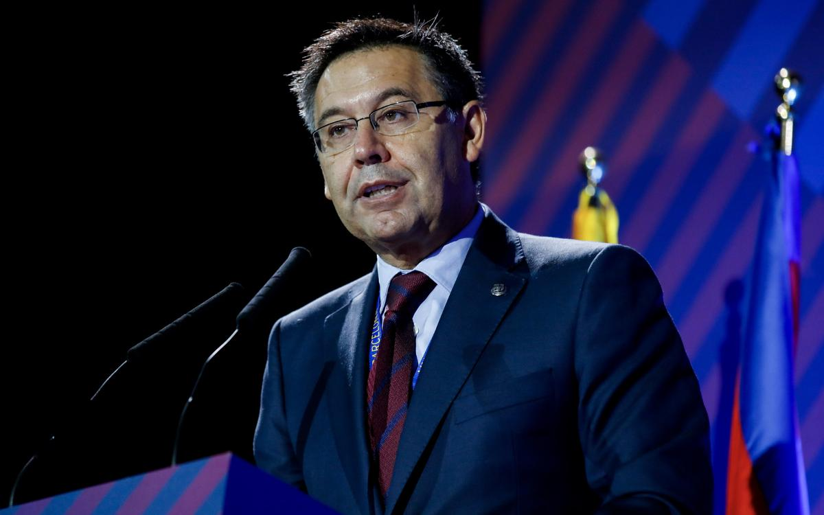 Bartomeu demands respect for Barça and the plurality of opinions among its members