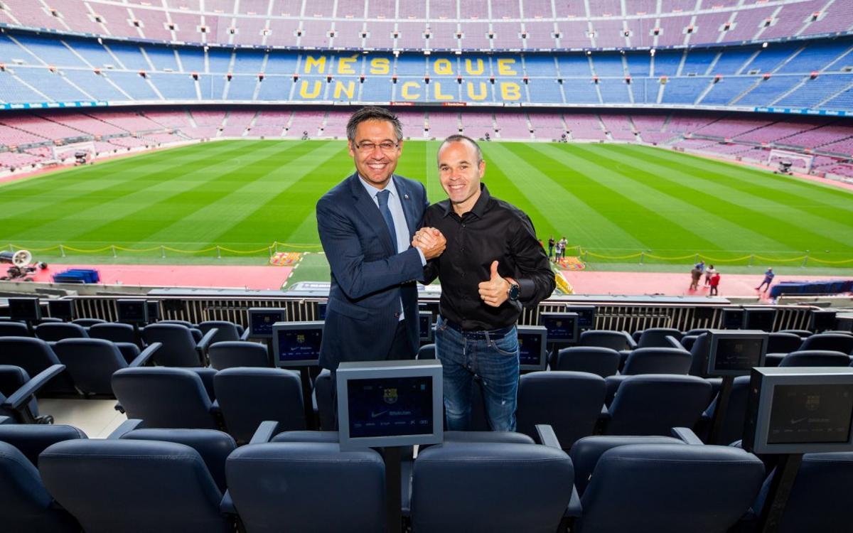 アンドレス・イニエスタがバルセロナと終身契約