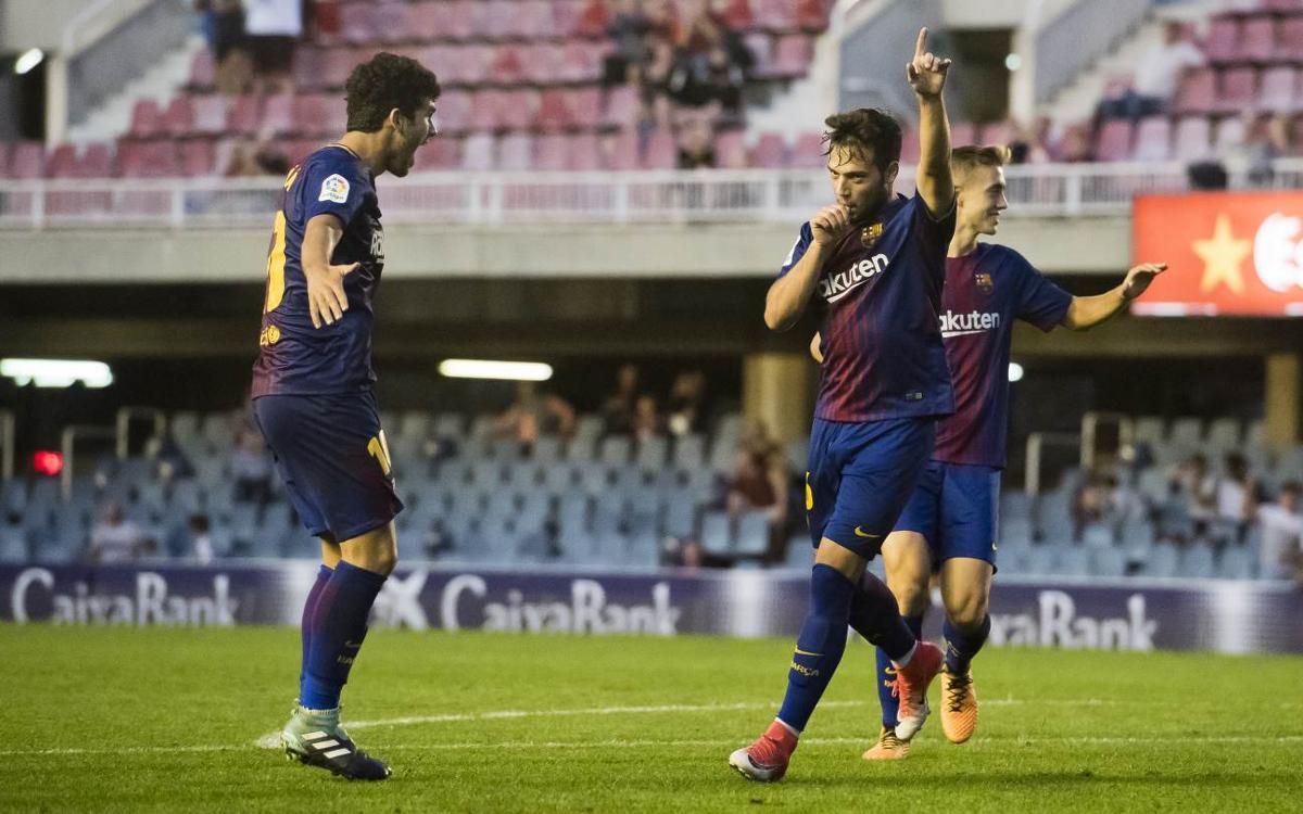Barça B - Lorca FC: Es retroben amb la victòria (1-0)