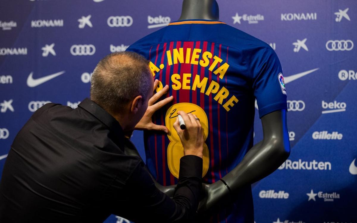 Así ha vivido Andrés Iniesta el día de su firma del acuerdo de por vida con el FC Barcelona