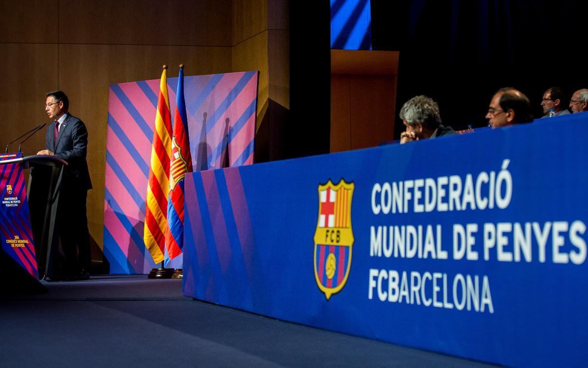 """Josep Maria Bartomeu: """"Abans que aquest Barça ho guanyés tot, les penyes ja hi eren"""""""