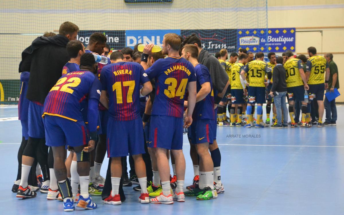 Bidasoa Irun – FC Barcelona Lassa: Bon punt de partida per al que s'aproxima (25-34)