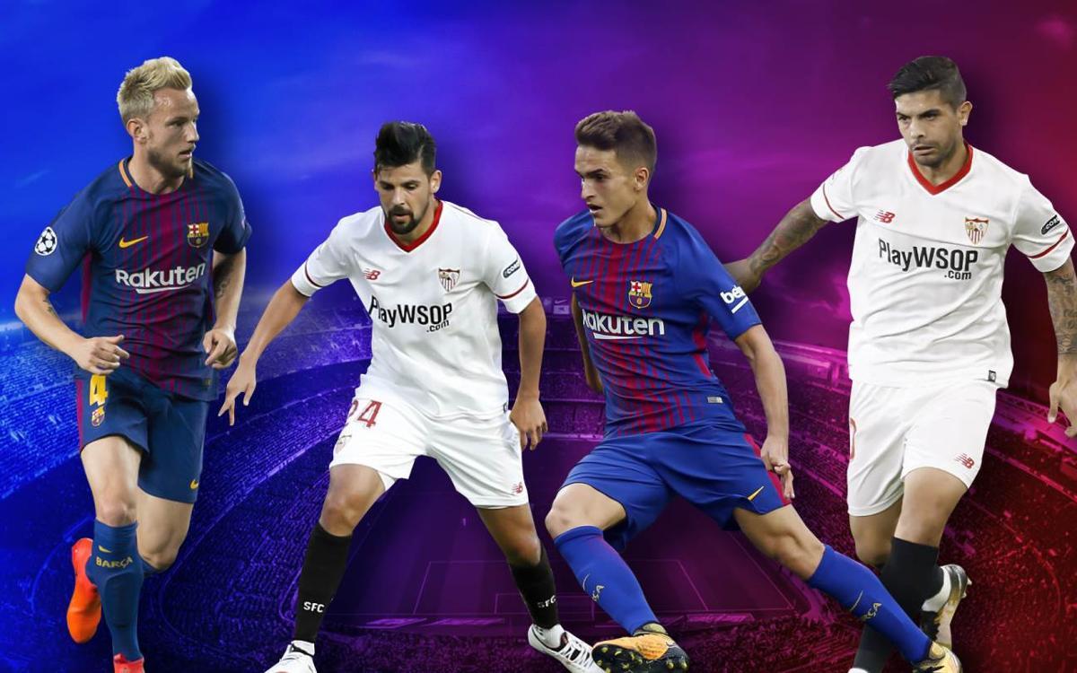 Quins jugadors del Barça i el Sevilla han compartit equip?