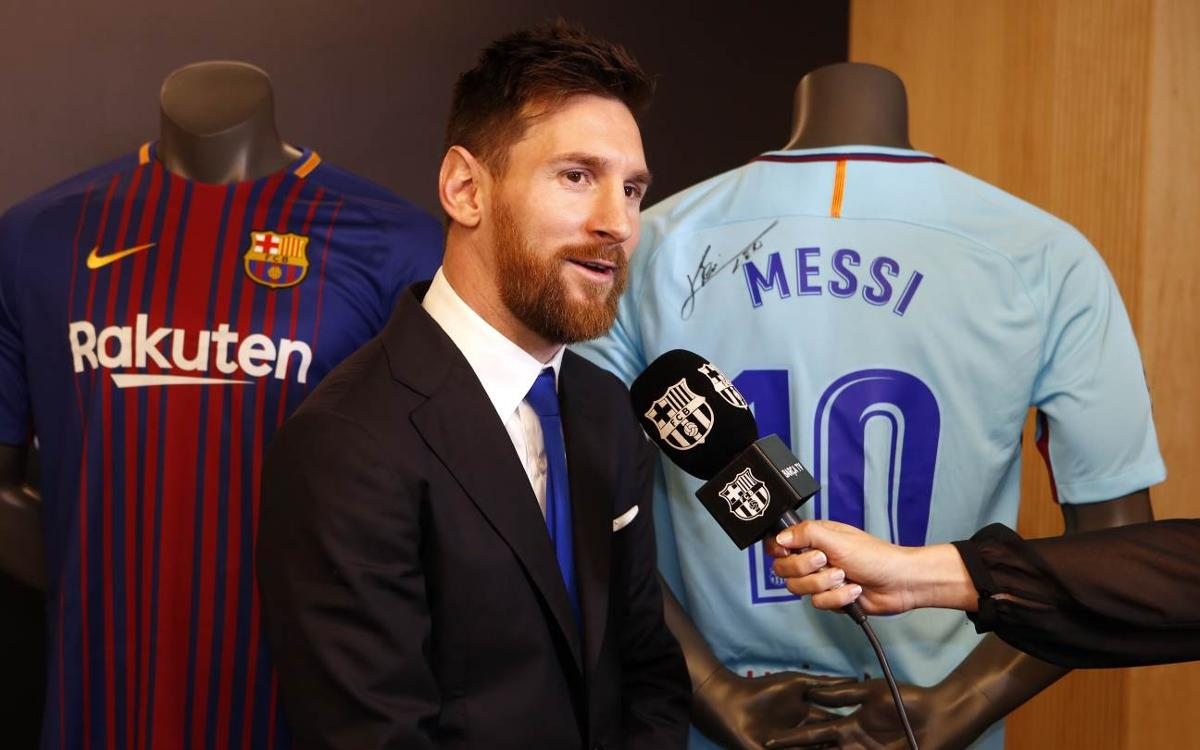 Lionel Messi happy to continue 'at home'