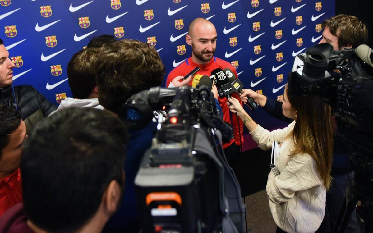 """Fran Sánchez, abans del Madrid CFF: """"No ens ho posaran fàcil"""""""