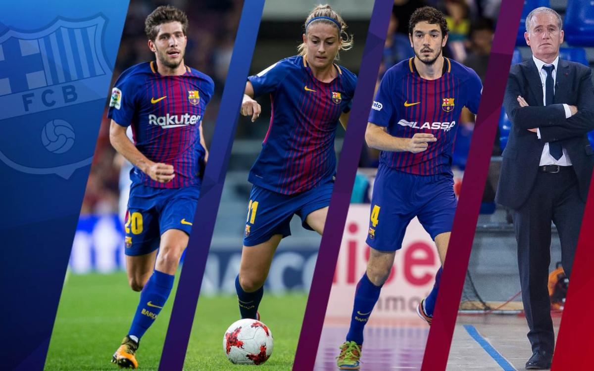 Sergi Roberto, Alexia, Tolrà i Andreu Plaza, premiats per la Federació Catalana de Futbol
