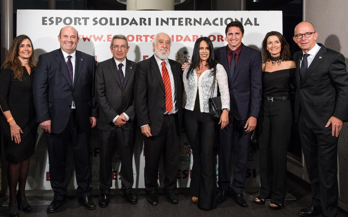 El Barça, presente en la cena de la Fundación Deporte Solidario Internacional