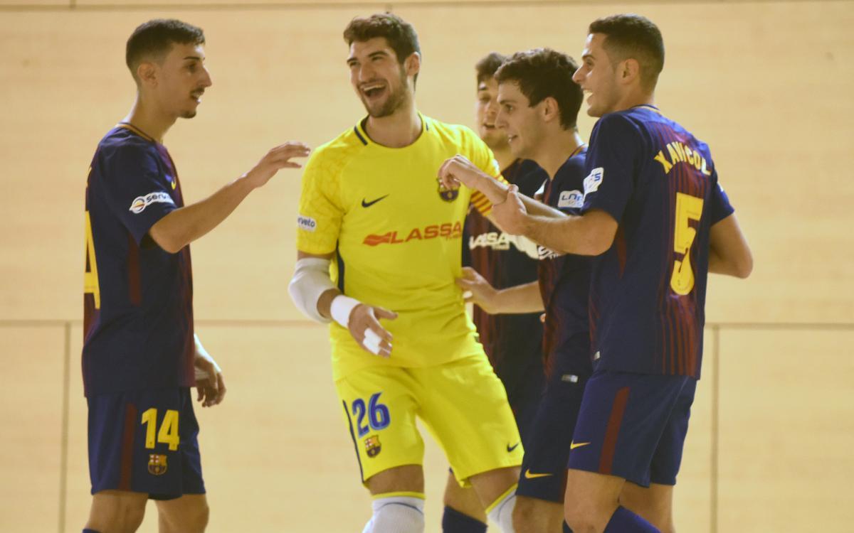 Barça Lassa B – Noia Portus Apostoli (7-1): Bon joc i eficàcia