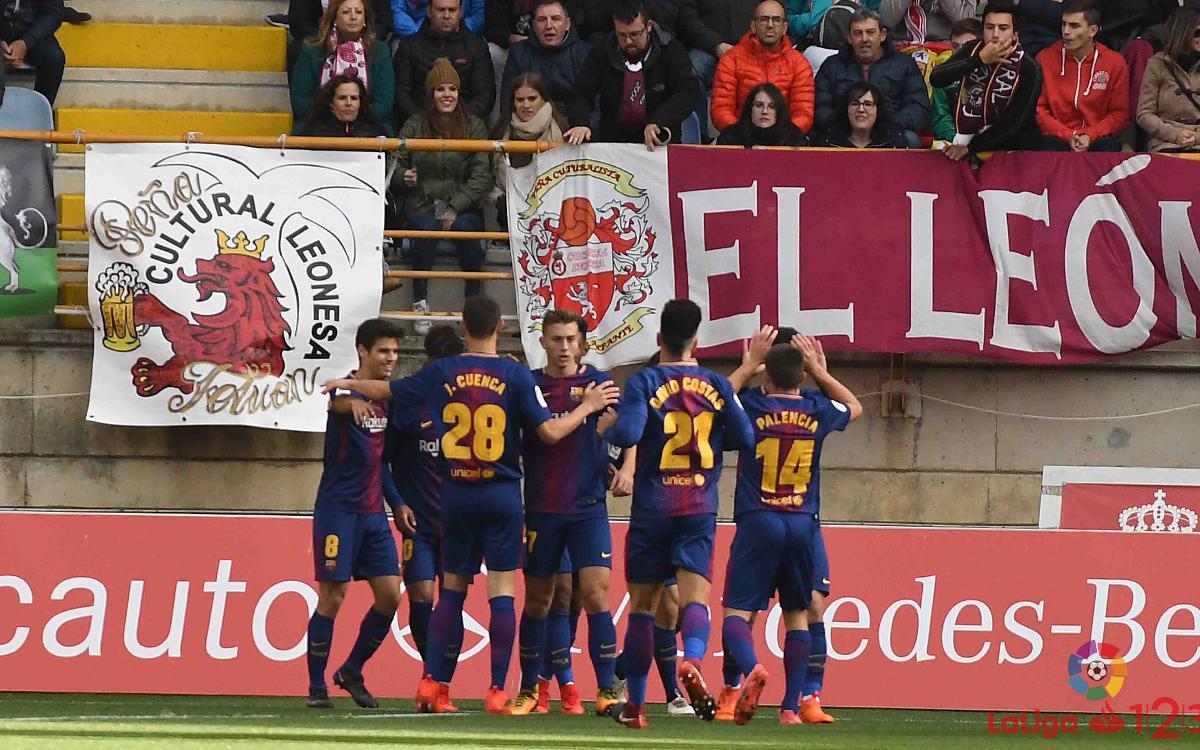 Cultural Leonesa – FC Barcelona B: Punto agridulce (1-1)