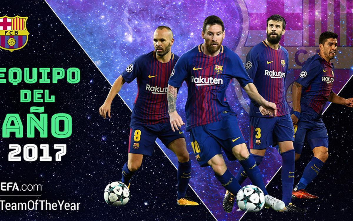 Cuatro azulgranas candidatos al XI del Año de la UEFA