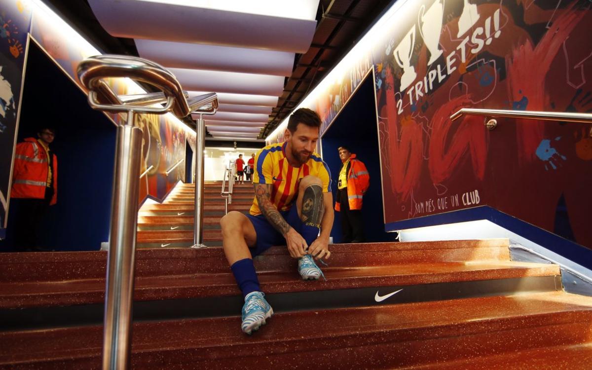 Las maravillas de Lionel Messi en los calentamientos