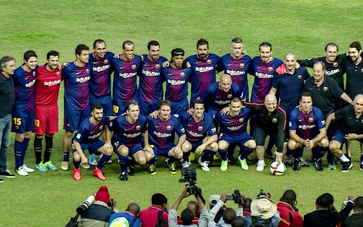 A great goal from Simao gives Barça Legends the victory