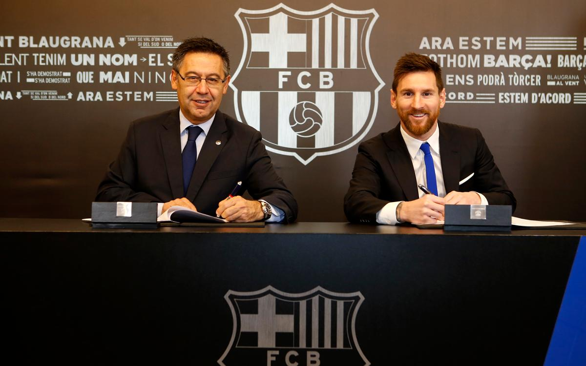 Lionel Messi signs new deal through 2020/21 season