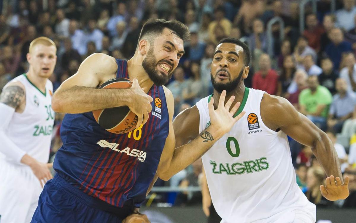 FC Barcelona Lassa - Zalguiris: First loss for Barça Lassa at the Palau (75-81)