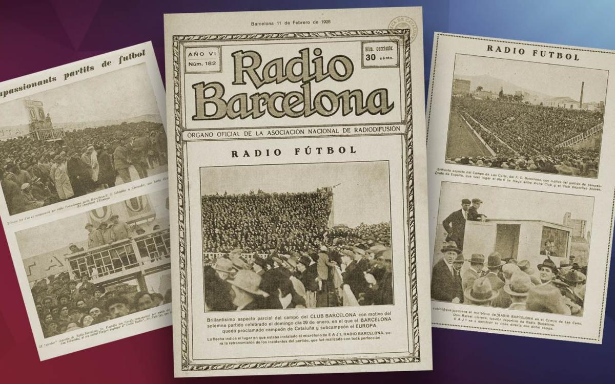 90 anys del primer partit radiat del FC Barcelona
