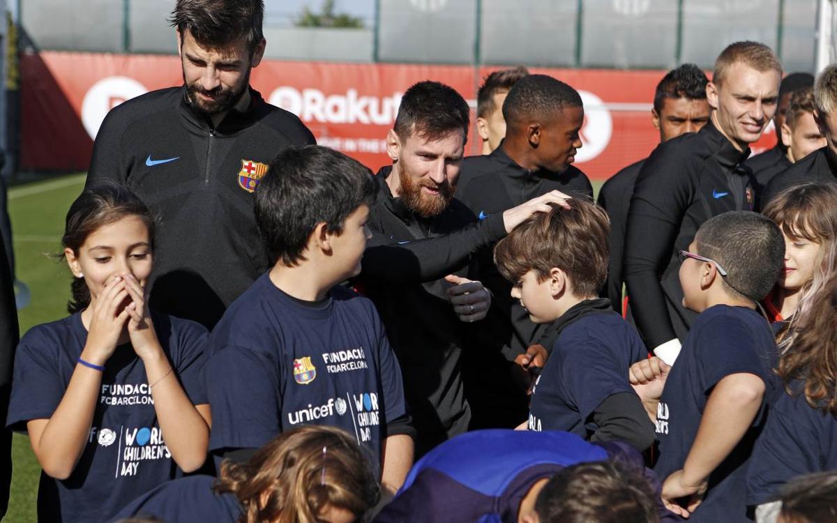 Le FC Barcelone et sa Fondation se joignent à la campagne de l'UNICEF