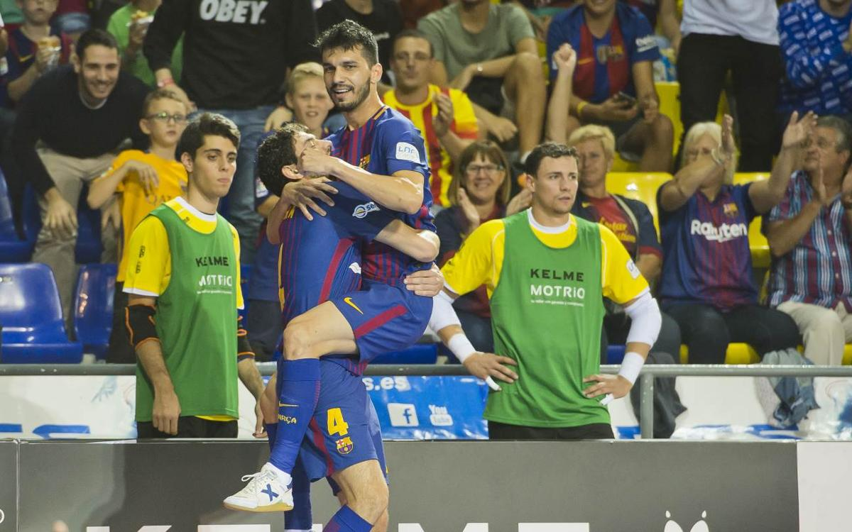 FC Barcelona Lassa v Naturpellet Segovia: Attacking display at the Palau (8-1)