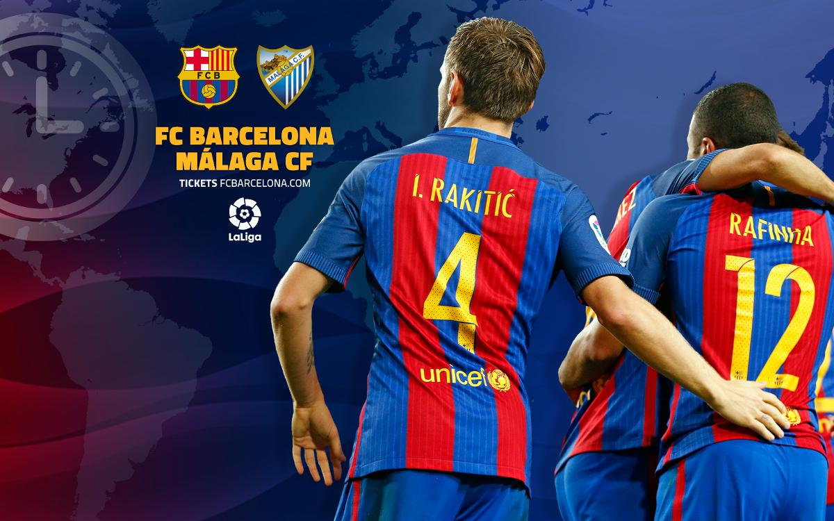 When and where to watch FC Barcelona v Málaga