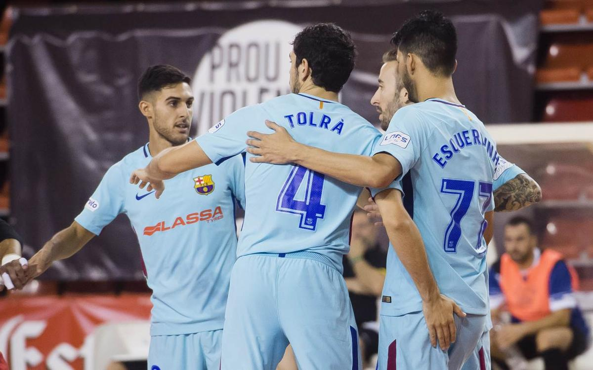 FC Barcelona Lassa - CFS La Unión Santa Coloma: Festival de goles para acceder a la final (12-2)
