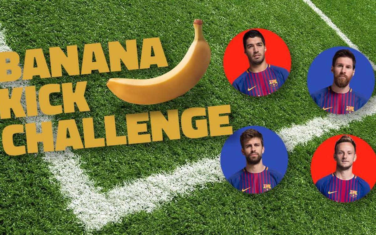 Vidéo : Qui gagnera le concours, entre Messi, Suárez, Piqué et Rakitic ?