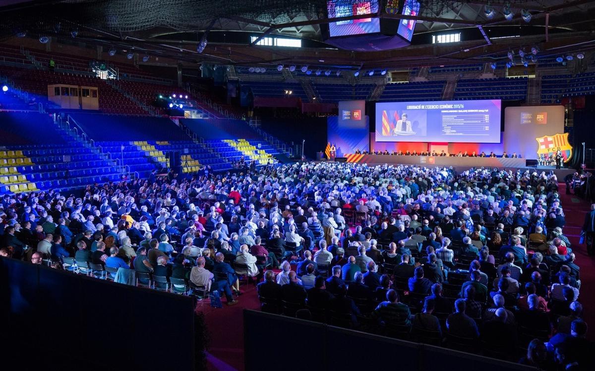 El Palau Blaugrana es transforma per acollir l'Assemblea General Ordinària