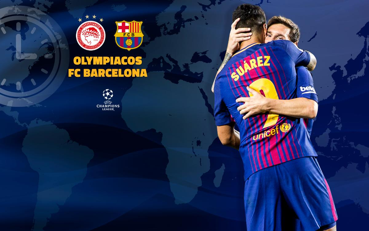 Où et quand voir Olympiakos – FC Barcelone