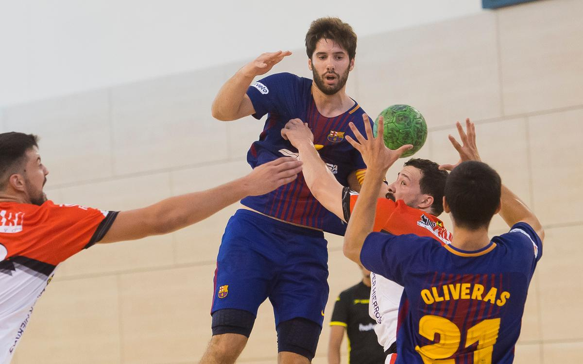 Barça Lassa B 26-26 Handbol Bordils: El derbi acaba en tablas