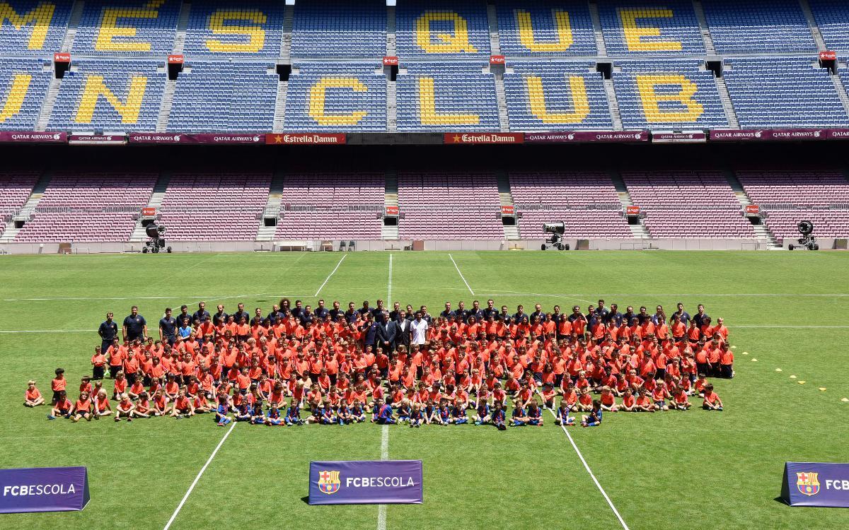 El Camp Nou, escenario de la última jornada de la temporada en la FCBEscola Barcelona