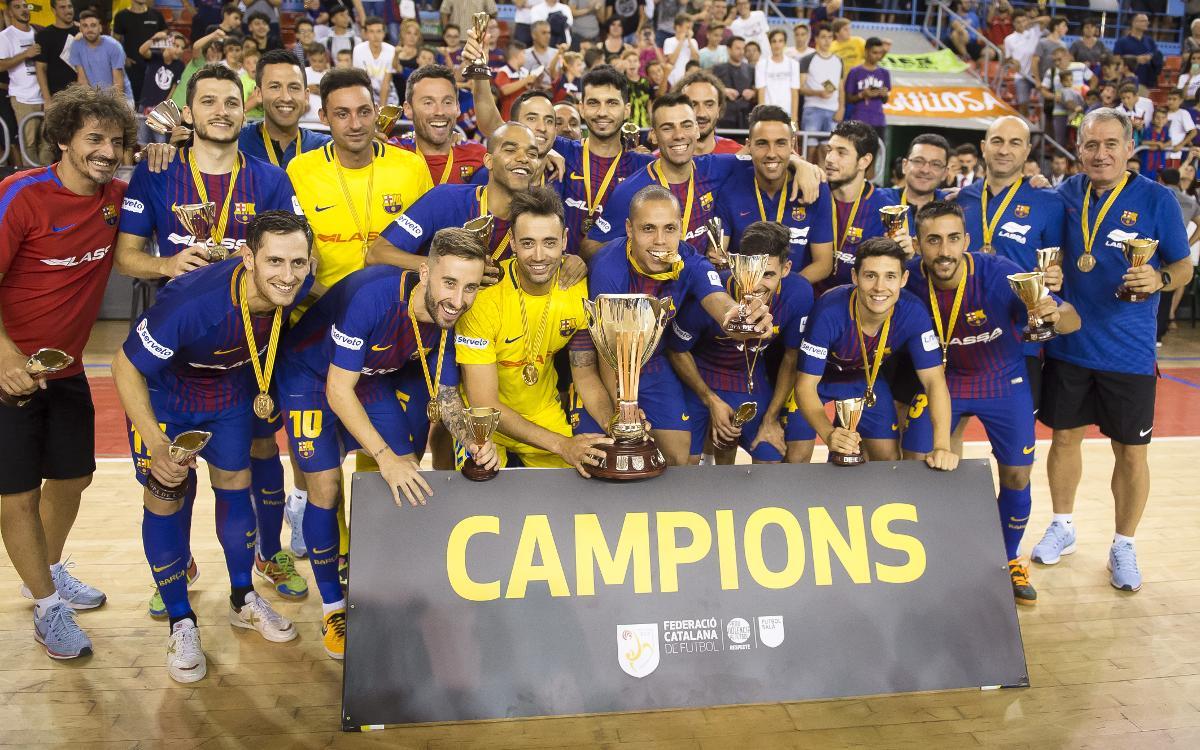 FC Barcelona Lassa - Catgas Energia Santa Coloma: Campions de la Copa Catalunya! (3-1)