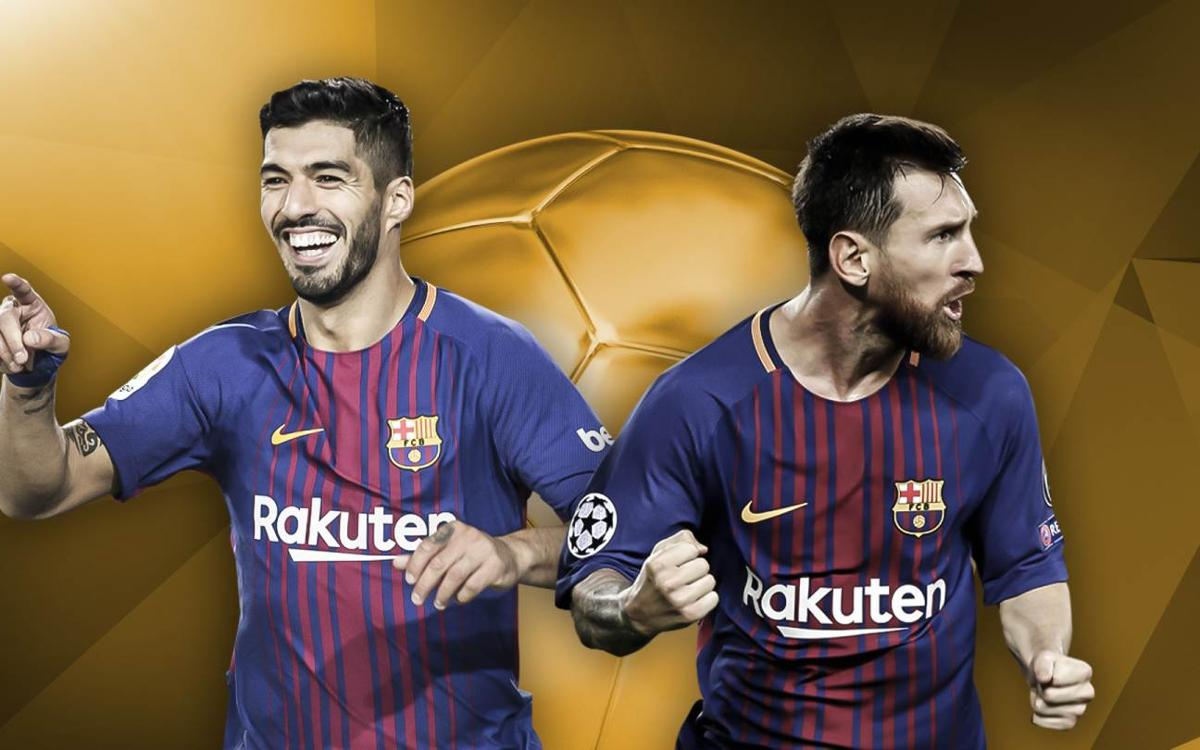 Messi and Suárez, candidates for the Ballon d'Or