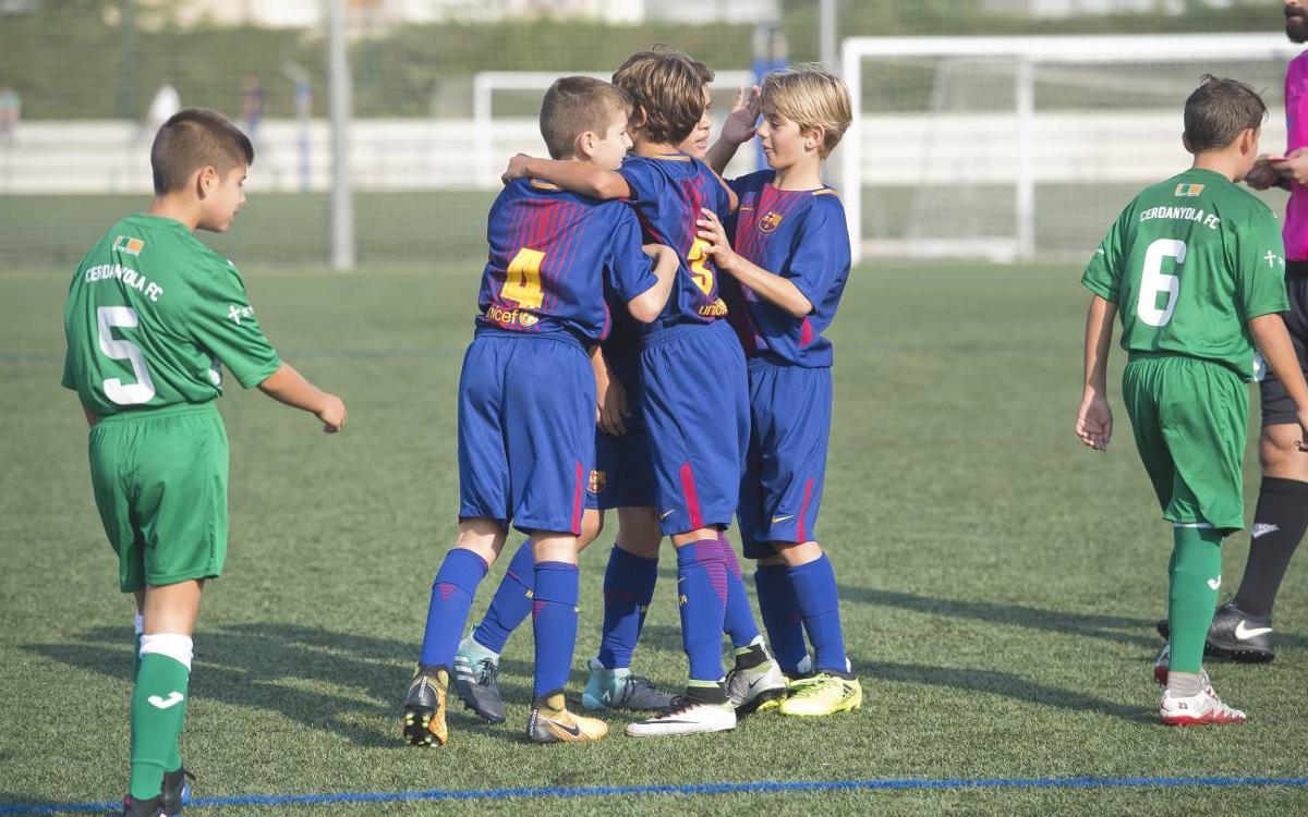 Buen debut del Alevín A en la Liga