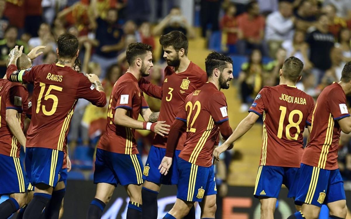 La selecció espanyola es classifica per al Mundial de Rússia després de golejar Albània (3-0)