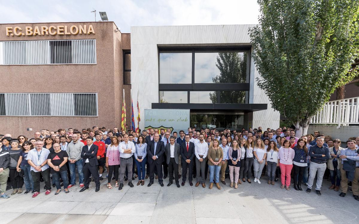 FC Barcelona observes standstill in condemnation of the use of violence