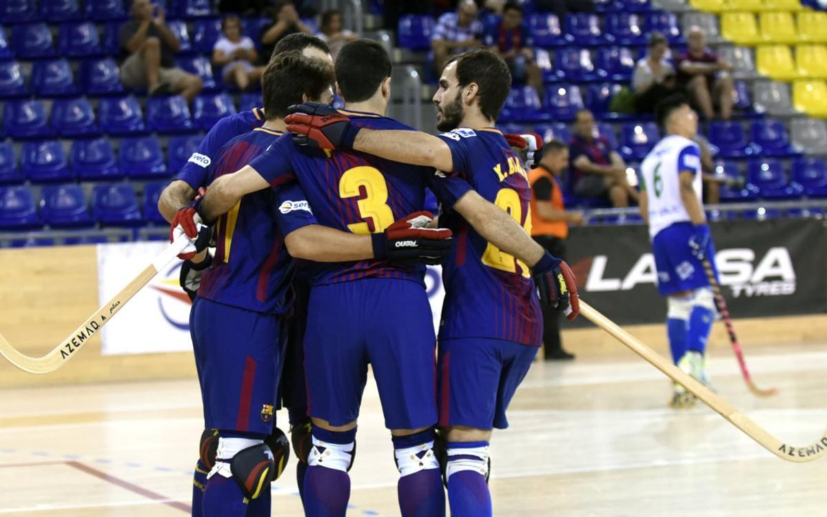 Barça Lassa - ICG Softweare Lleida: Contundente goleada para empezar (8-1)