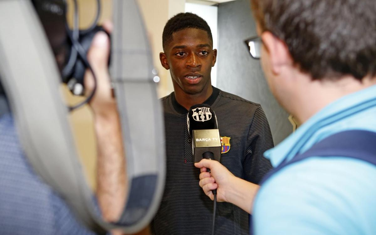 Dembélé 'happy that my dream has come true'