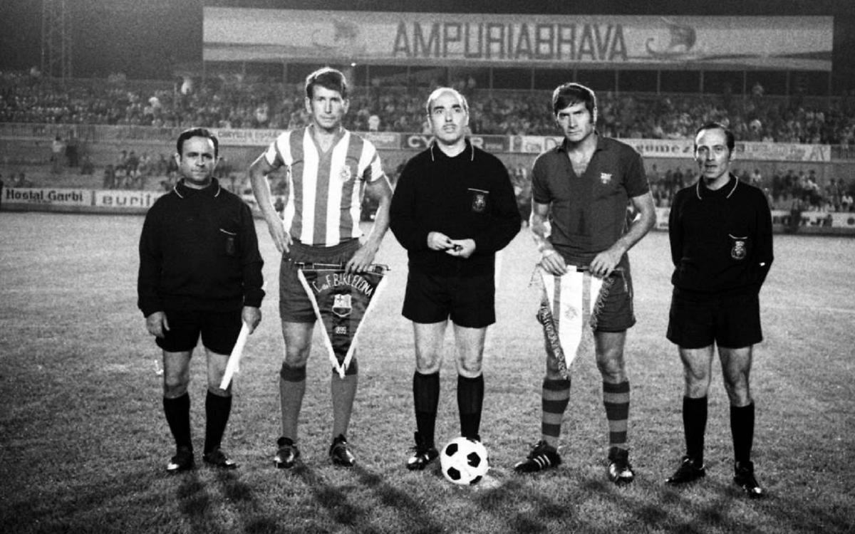 El FC Barcelona, presente en la inauguración de Montilivi en el 1970