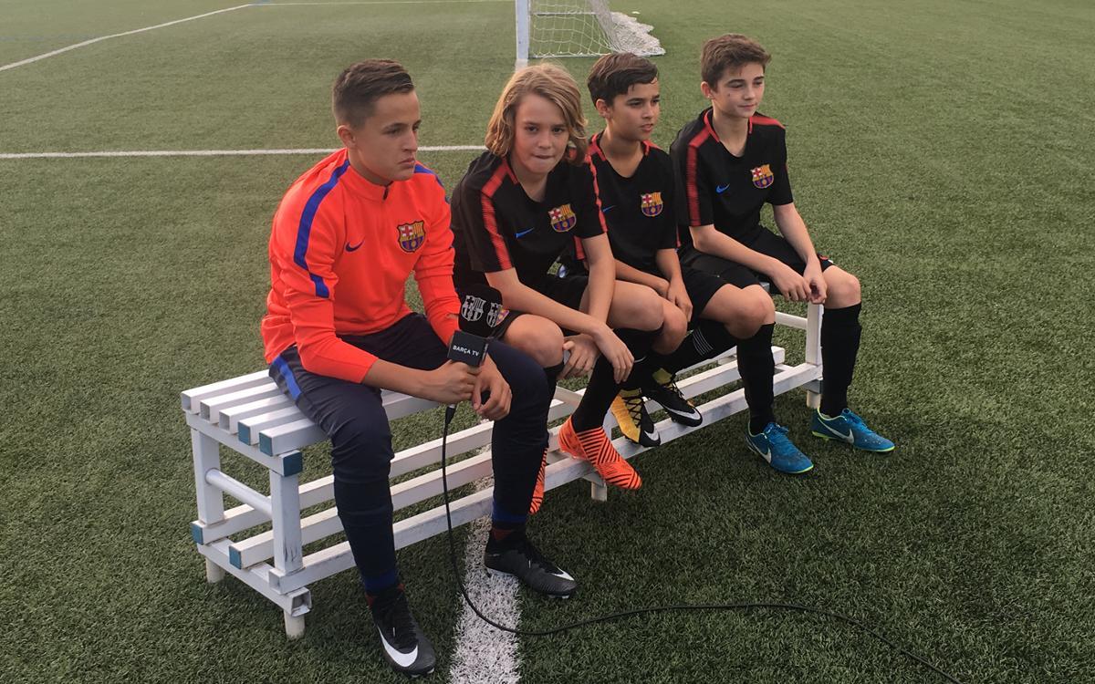El Infantil B, protagonista en Barça TV