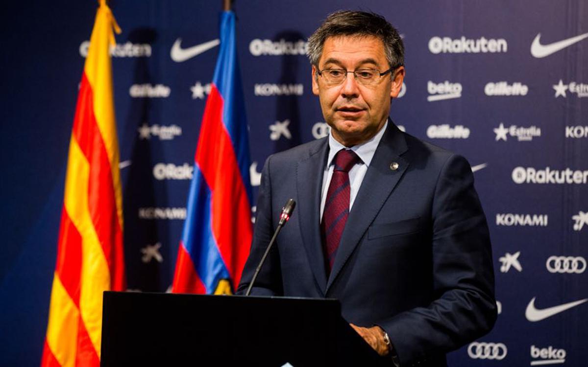 "Josep Maria Bartomeu: ""Valverde ha enamorat al Camp Nou"""