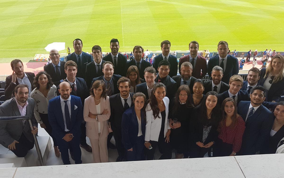 El Camp Nou acull l'acte d'obertura del màster en Dret Esportiu impulsat pel Barça Innovation Hub i l'ISDE