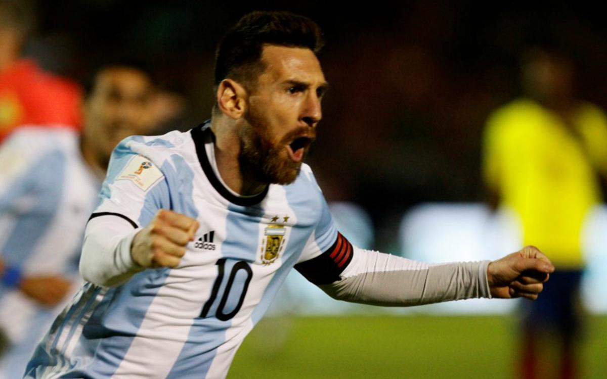 Un Messi celestial clasifica Argentina para el Mundial de Rusia 2018