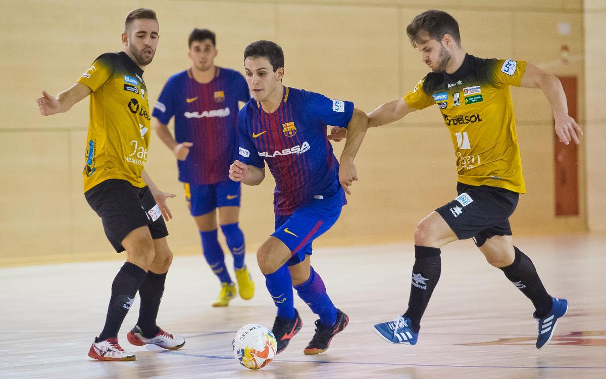 Barça Lassa B - Software Delsol Mengíbar (1-2): Dominio sin recompensa