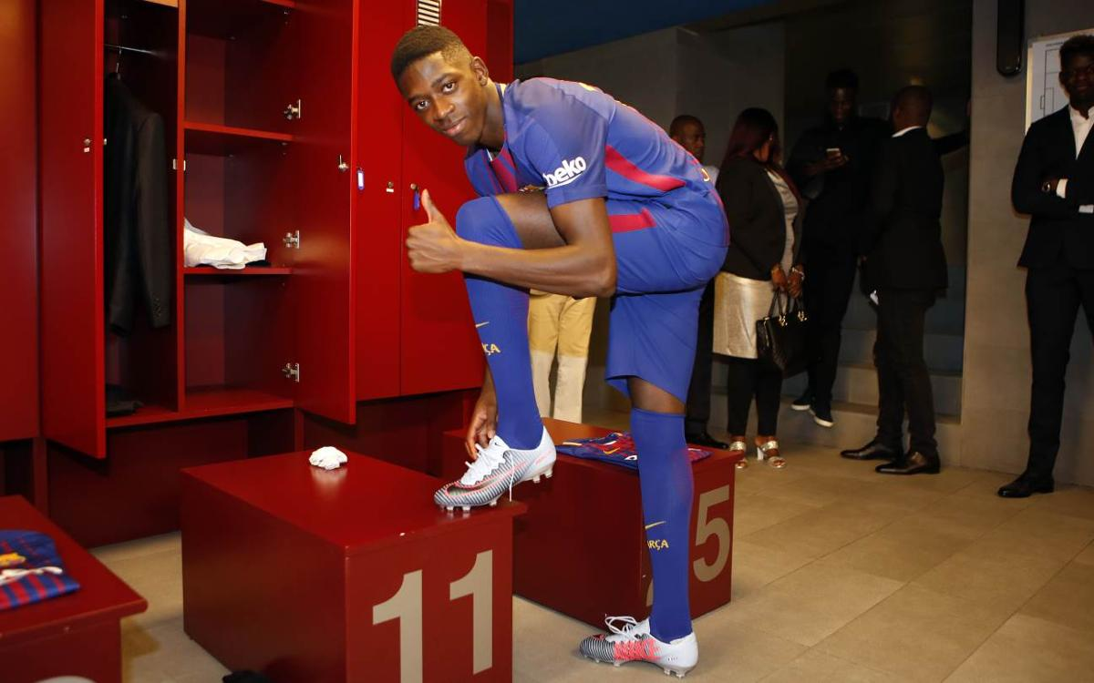 INSIDE VIEW: Dembélé's first day in blaugrana