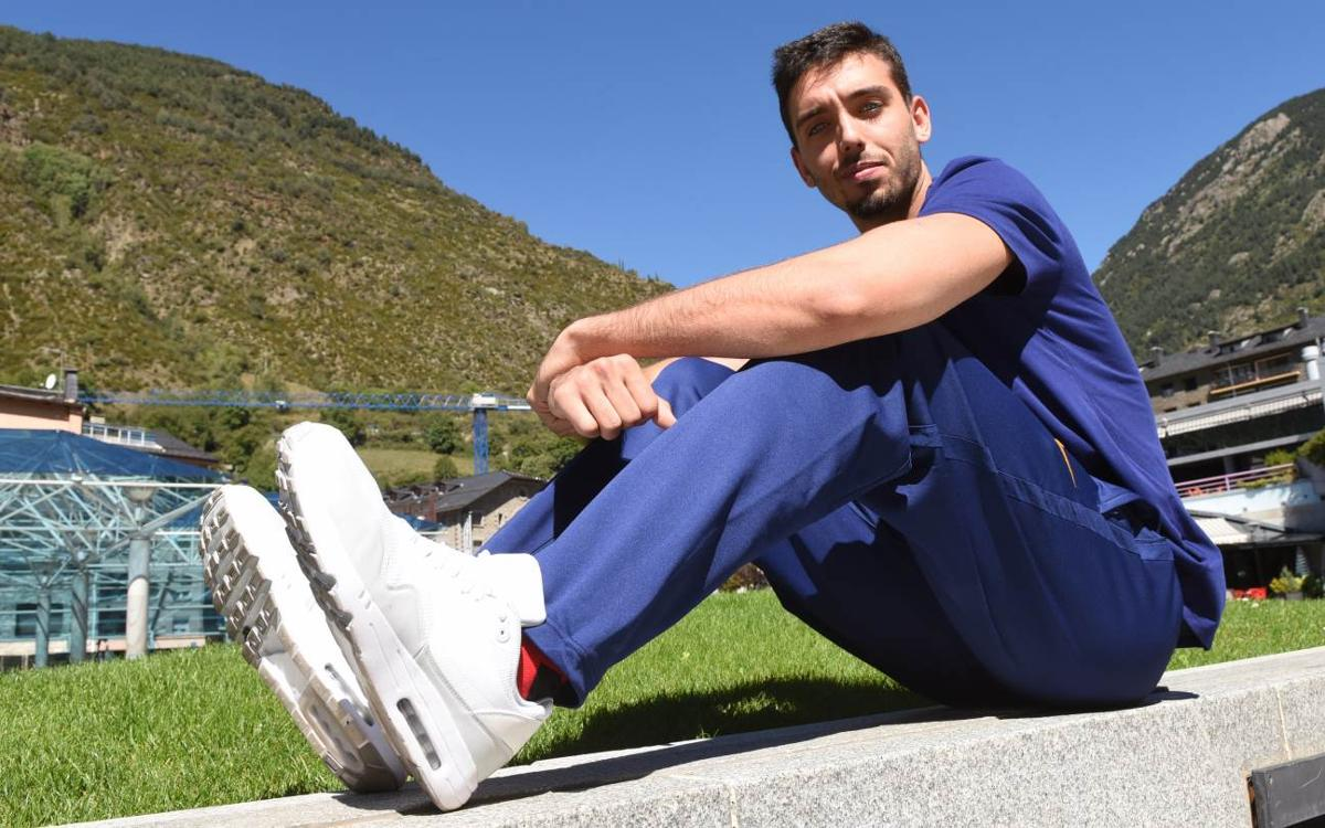 """Marc Garcia: """"Vull aprofitar cada minut d'entrenament per millorar"""""""